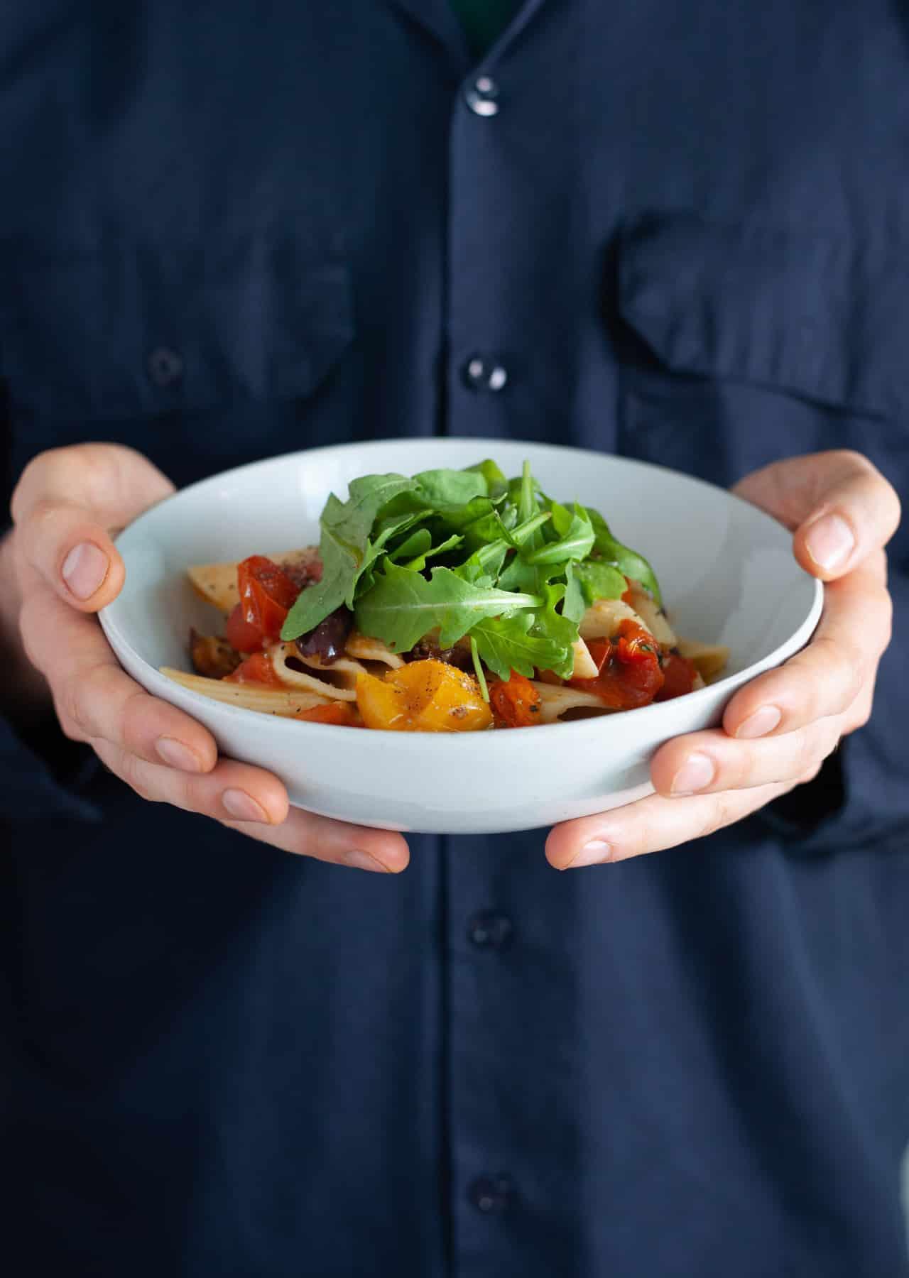 Vegan Roasted Tomato & Basil Pasta