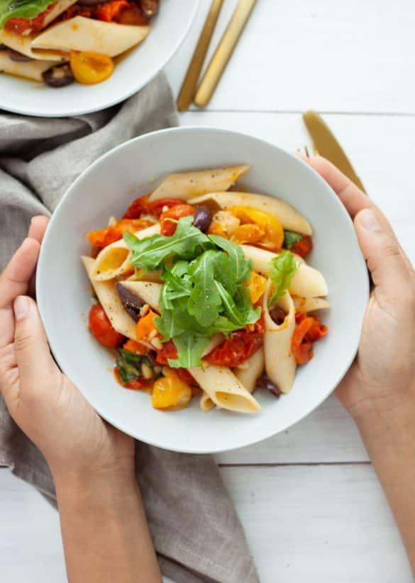 Vegan Tomato & Basil Pasta