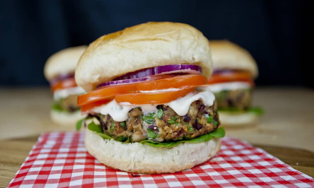 Mushroom & Bean Burger
