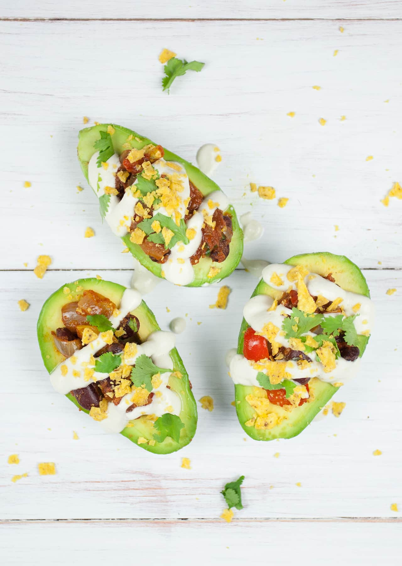 Chilli Stuffed Avocado Boats