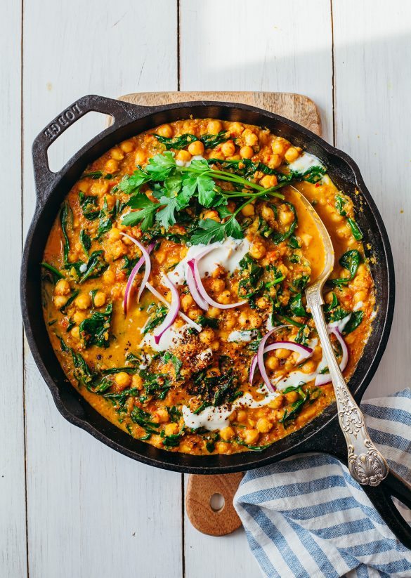 Vegan Spinach & Chickpea Curry Recipe