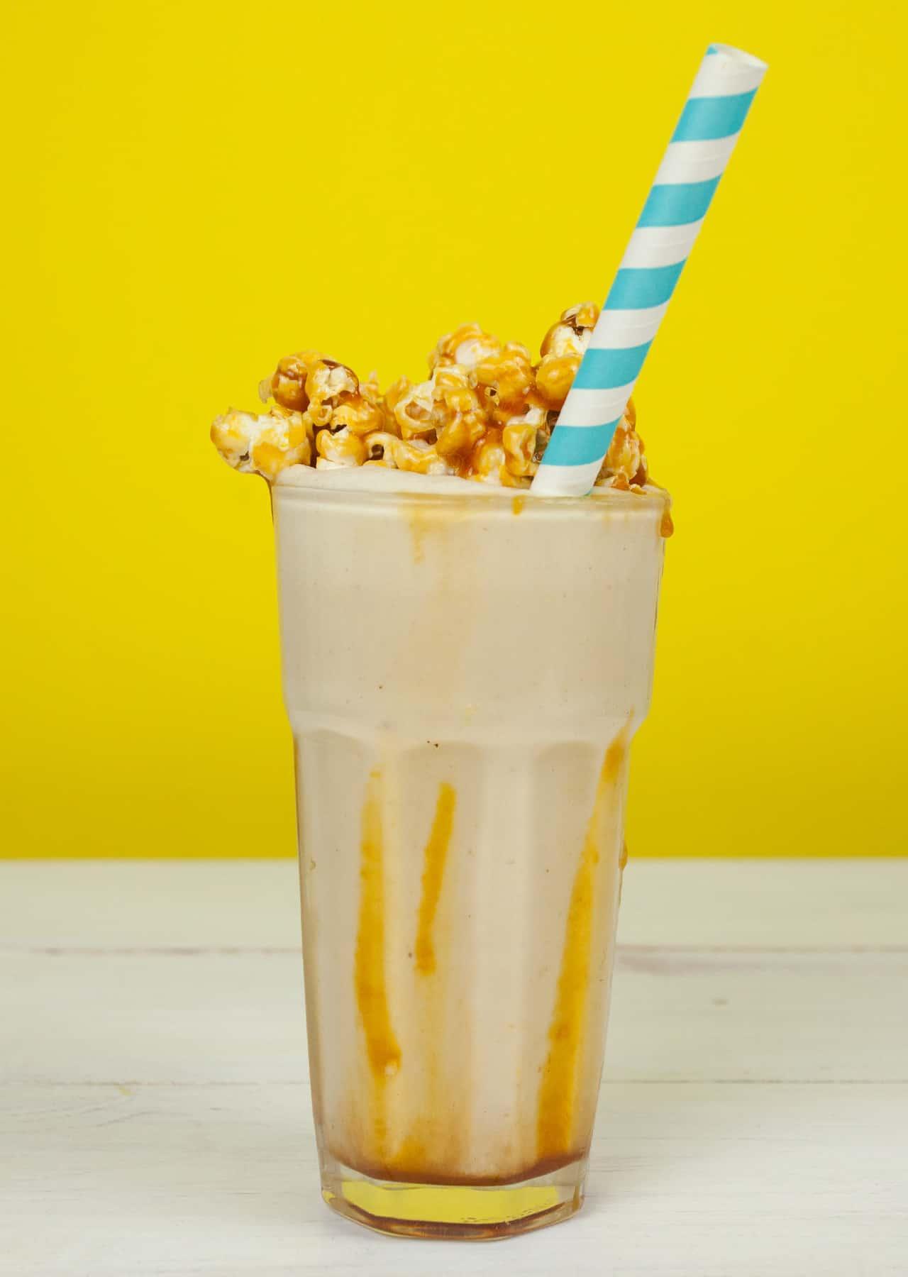 Salted Caramel Popcorn Milkshake