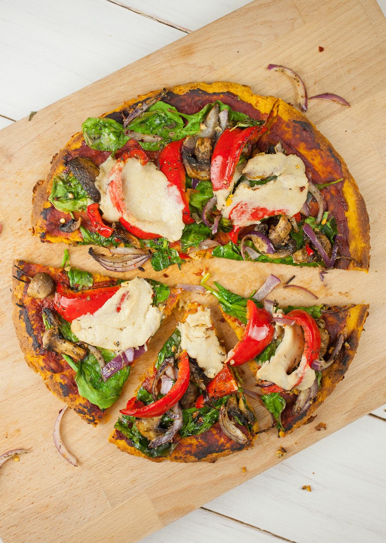Sweet Potato Crust Pizza So Vegan