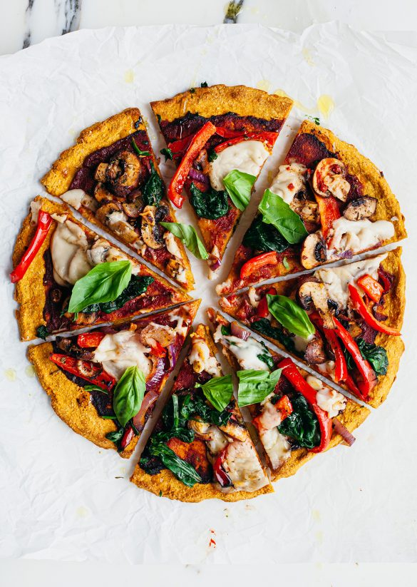 Sweet Potato Crust Pizza Vegan Recipe