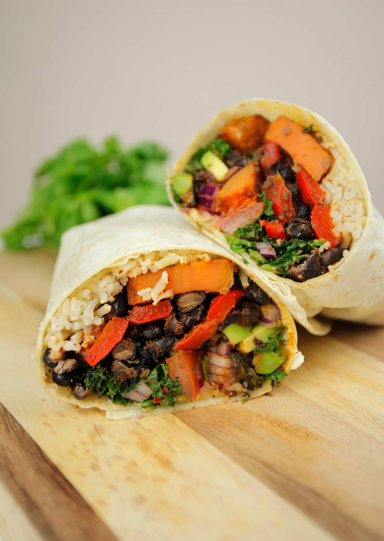 Lazy Sweet Potato Burrito