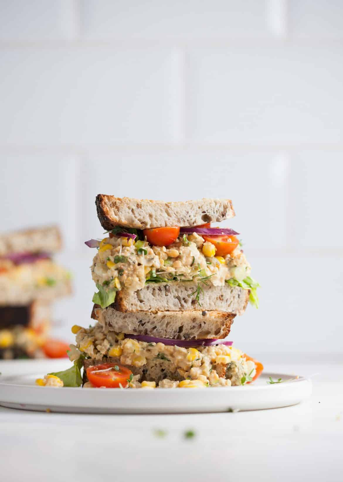 Vegan Chickpea 'Tuna' Sandwich
