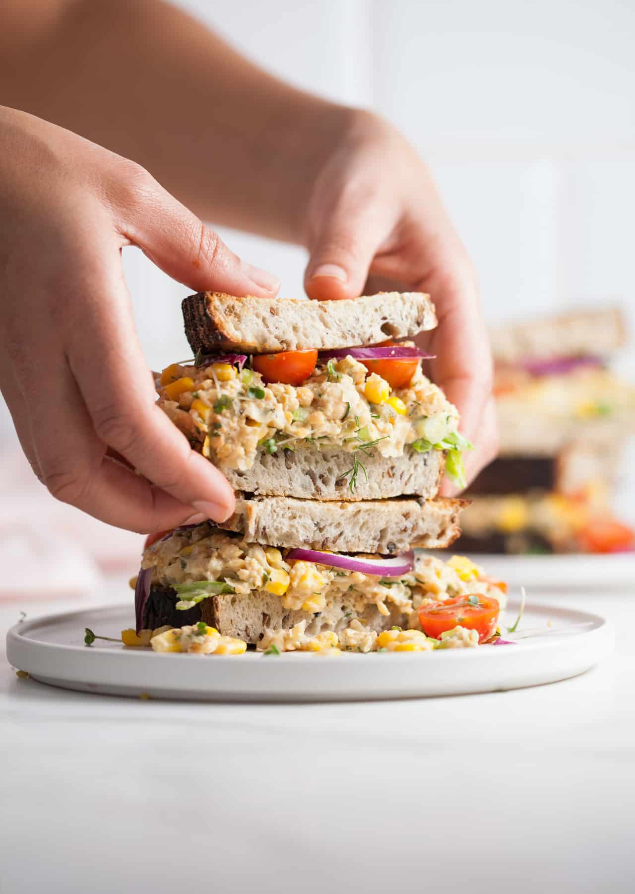 Vegan Chickpea 'Tuna' Sandwich