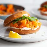 Carrot 'Salmon' & Cream Cheese Bagels