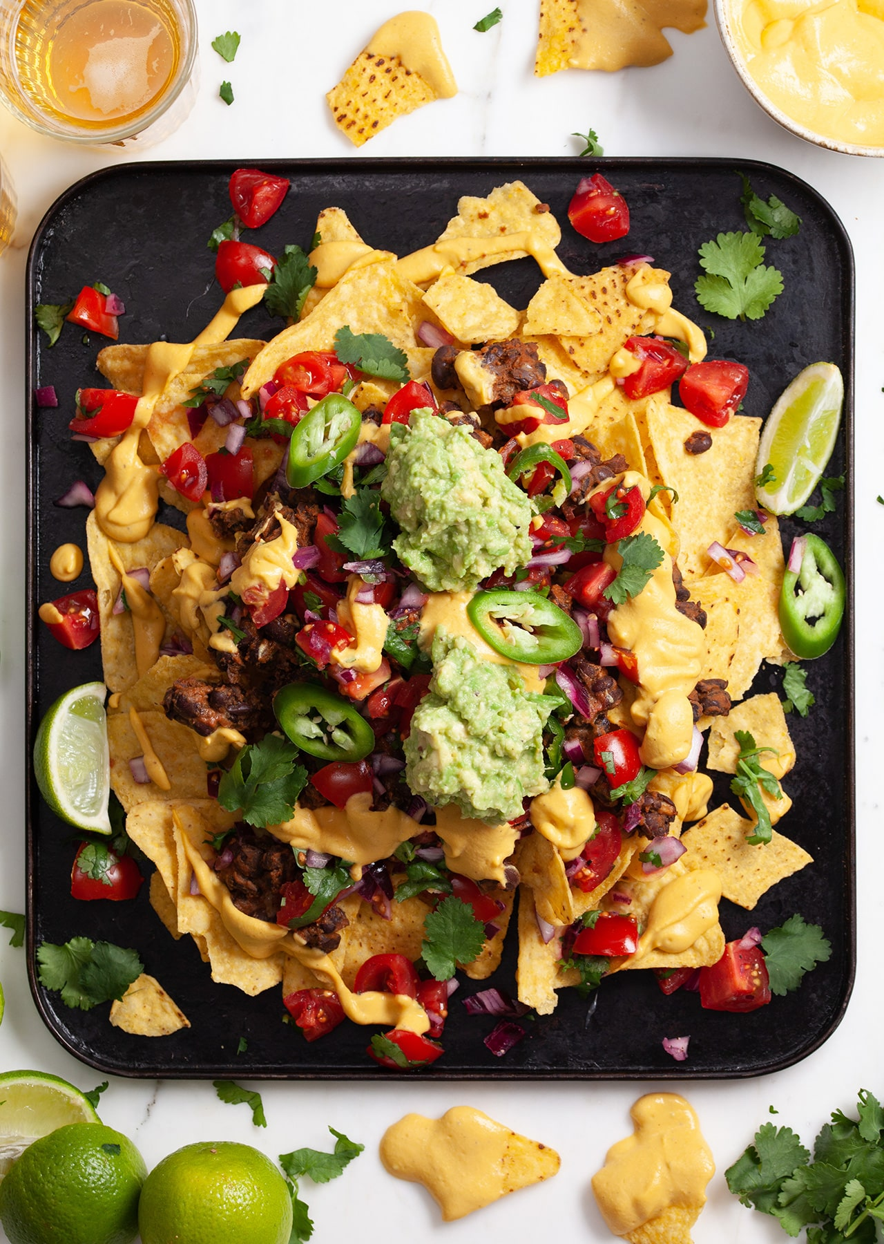Sweet Potato Queso Nachos