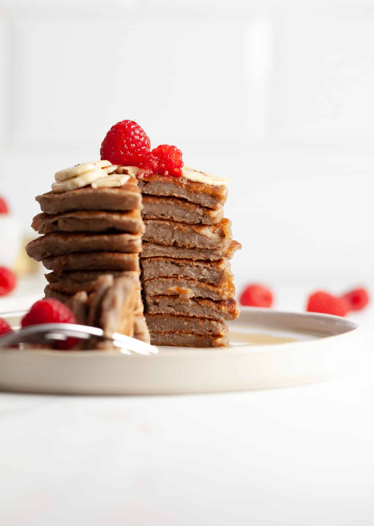 Vegan Oat & Chia Pancakes