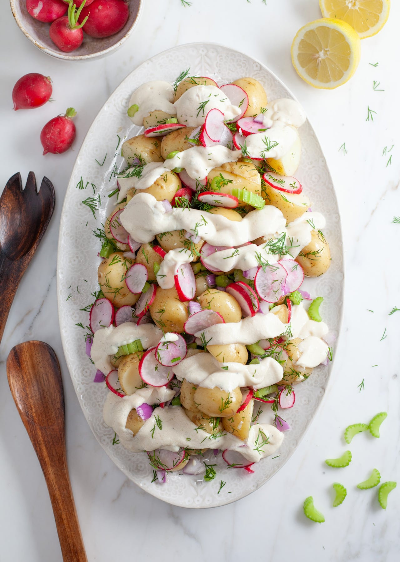Vegan Creamy Potato & Dill Salad