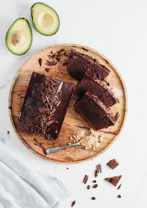 Vegan Fudgy Chocolate Avocado Loaf