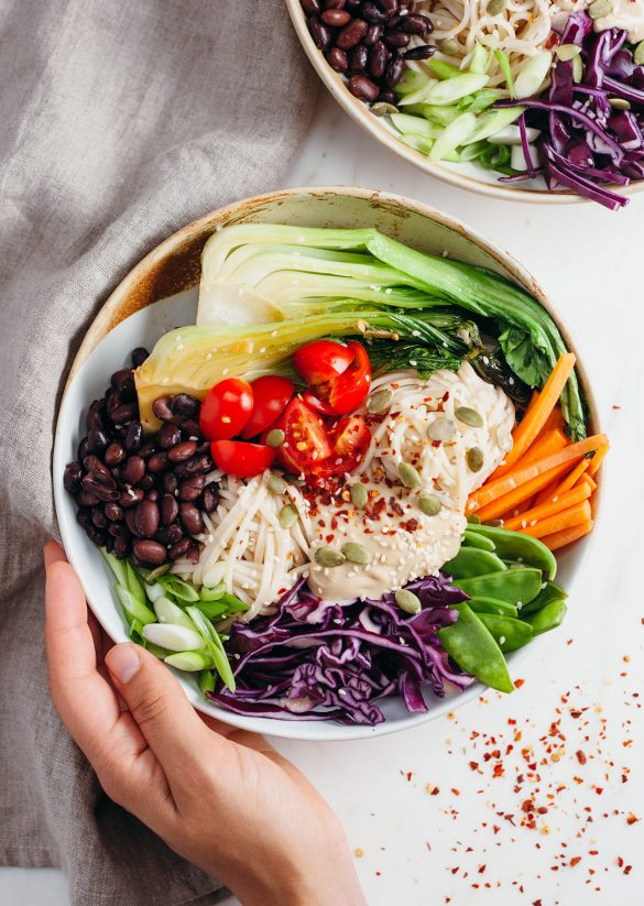 Vegan Rainbow Power Bowl