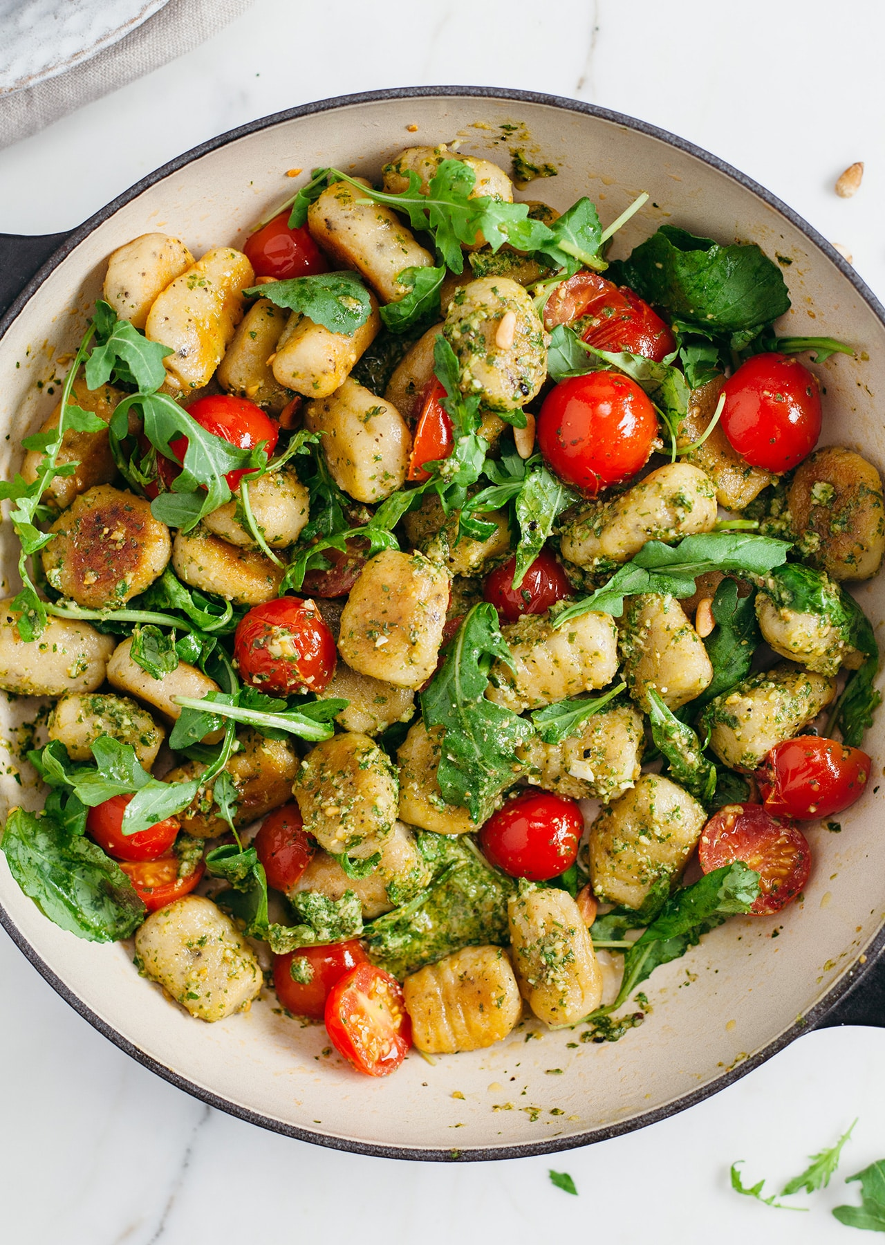 Homemade Vegan Gnocchi Pesto Recipe