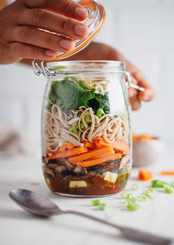 Spicy Thai Noodles Meal Prep Mason Jar Recipes