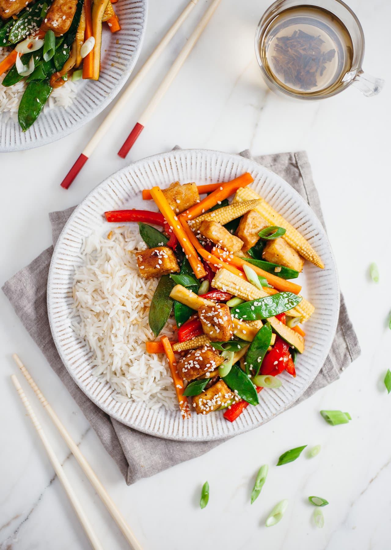 Super Easy Vegan Tofu Stir Fry Recipe