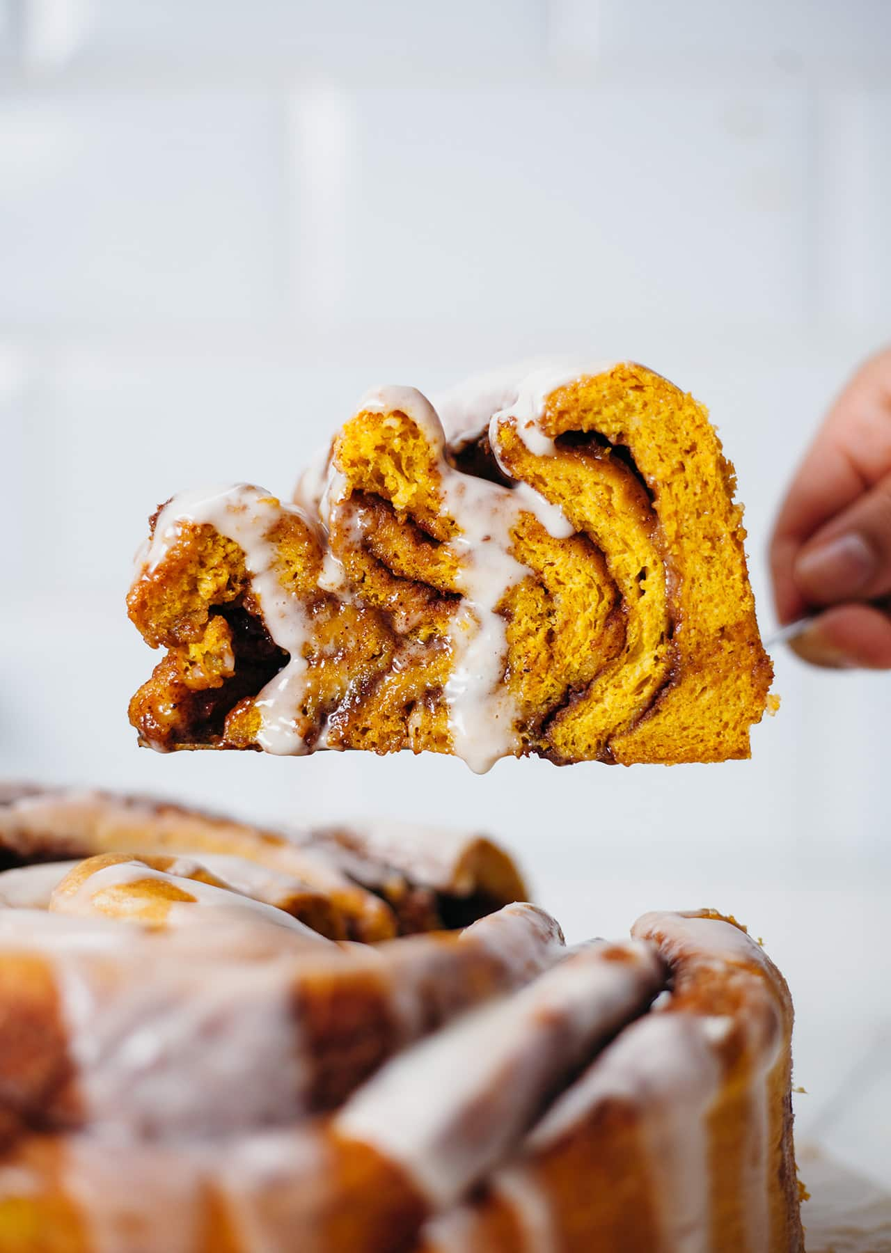 Vegan Giant Pumpkin Spiced Cinnamon Roll