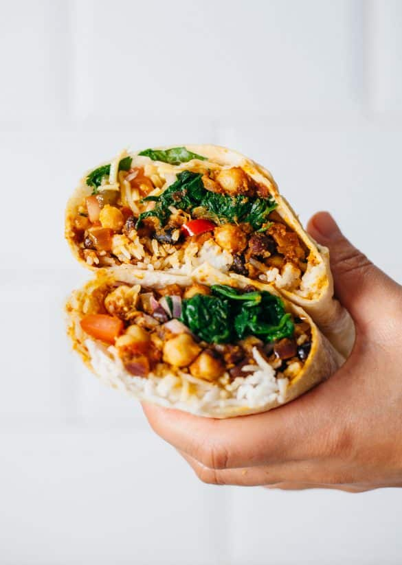 Indian Curry Burrito Vegan Recipe