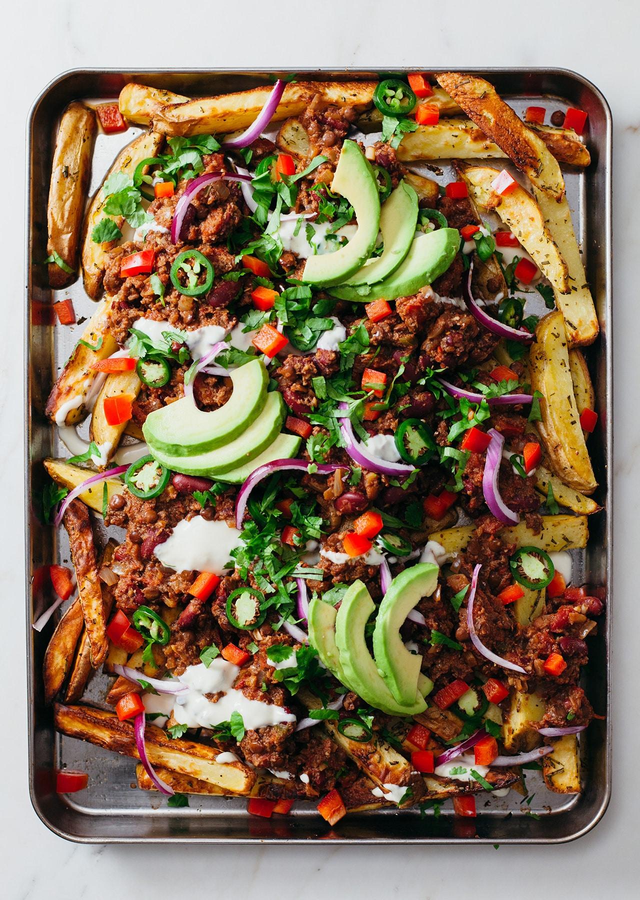 Vegan Loaded Chilli Fries Recipe