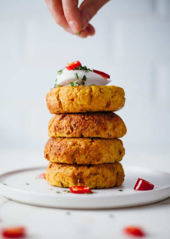 Vegan Curry Potato & Quinoa Cakes Recipe