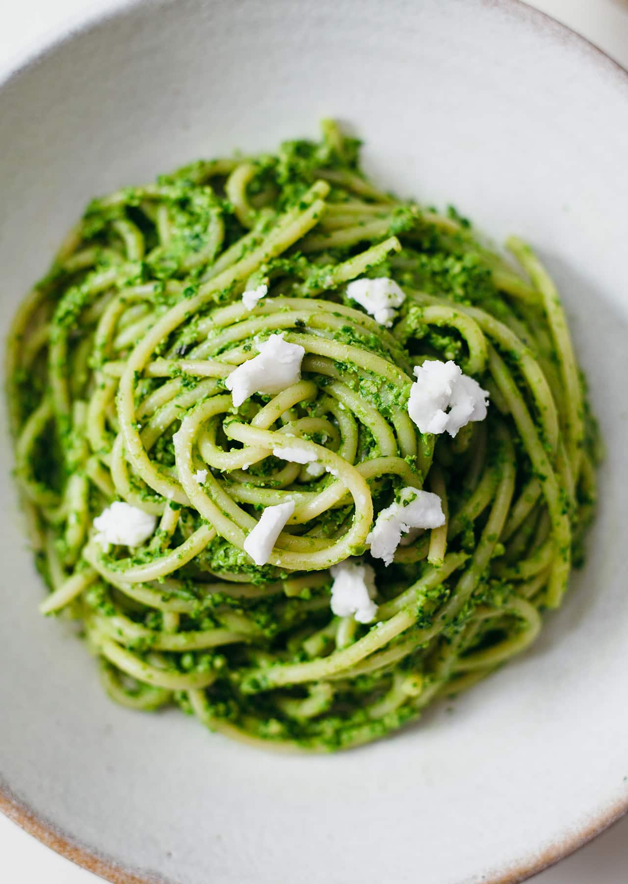 Vegan Spring Spaghetti Green Pasta Recipe
