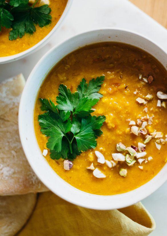 Vegan Lentil Dhal Soup Easy Store Cupboard Vegan Recipe