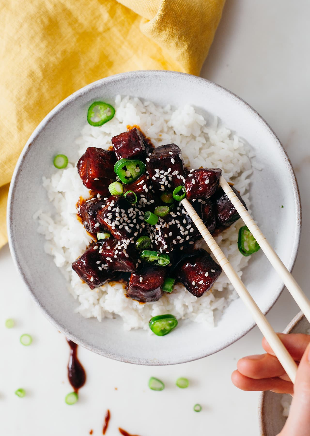 Sticky Black Tofu Vegan Recipe