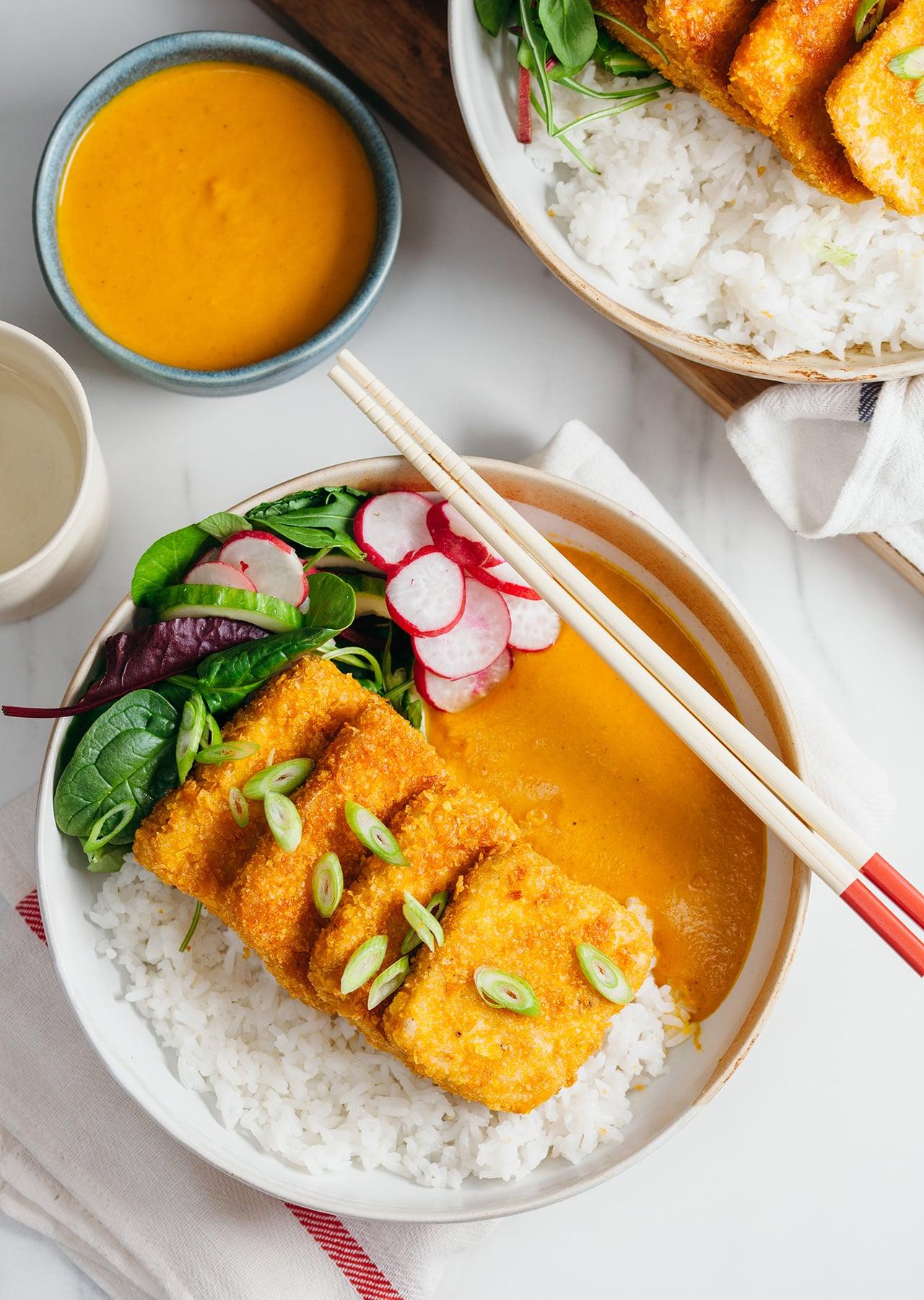 Vegan Tofu Katsu Curry Recipe