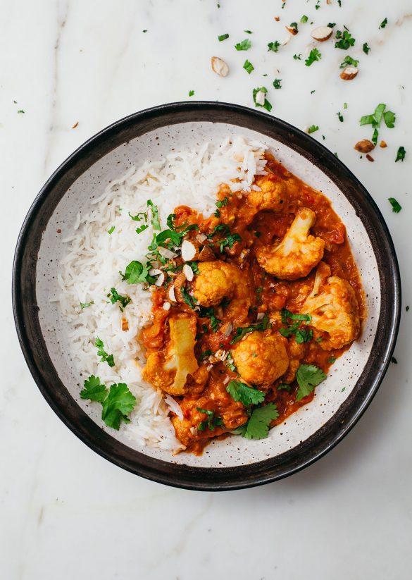 Roasted Cauliflower Vegan Curry Recipe
