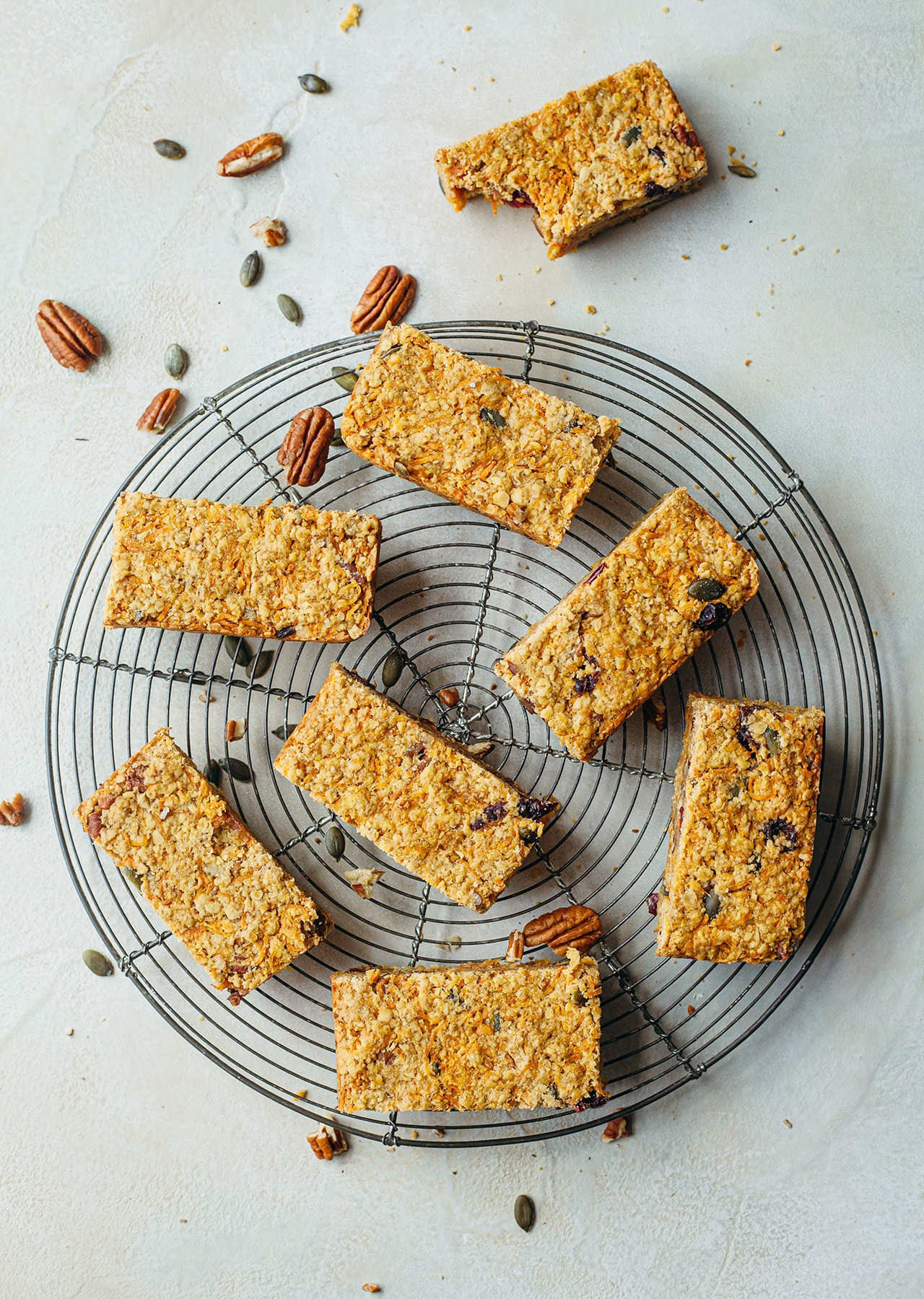 Vegan Carrot Cake Flapjack Recipe