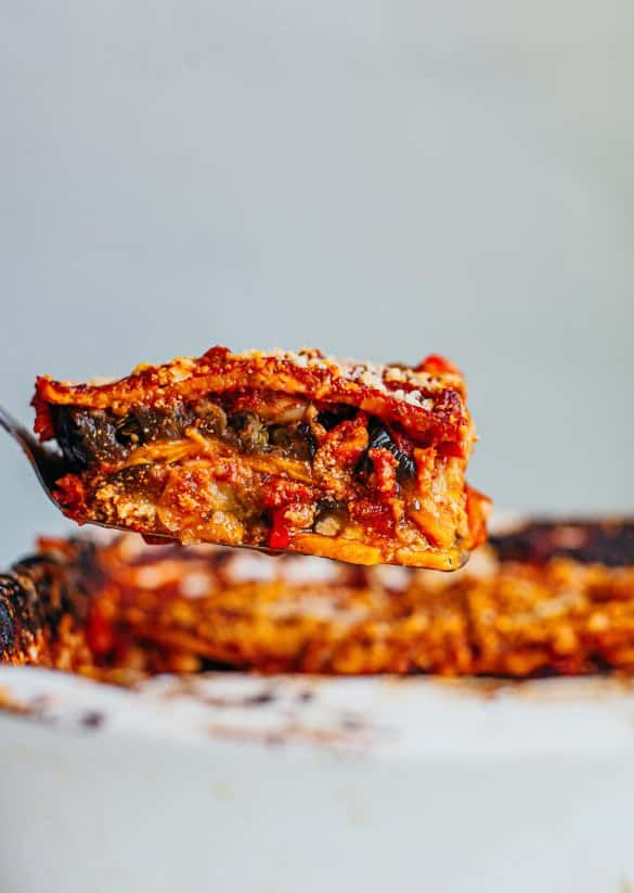 Vegan One Dish Aubergine Sweet Potato Lasagne
