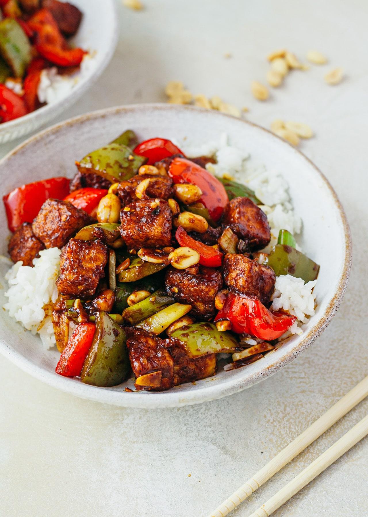Vegan Kung Pao Tofu Recipe