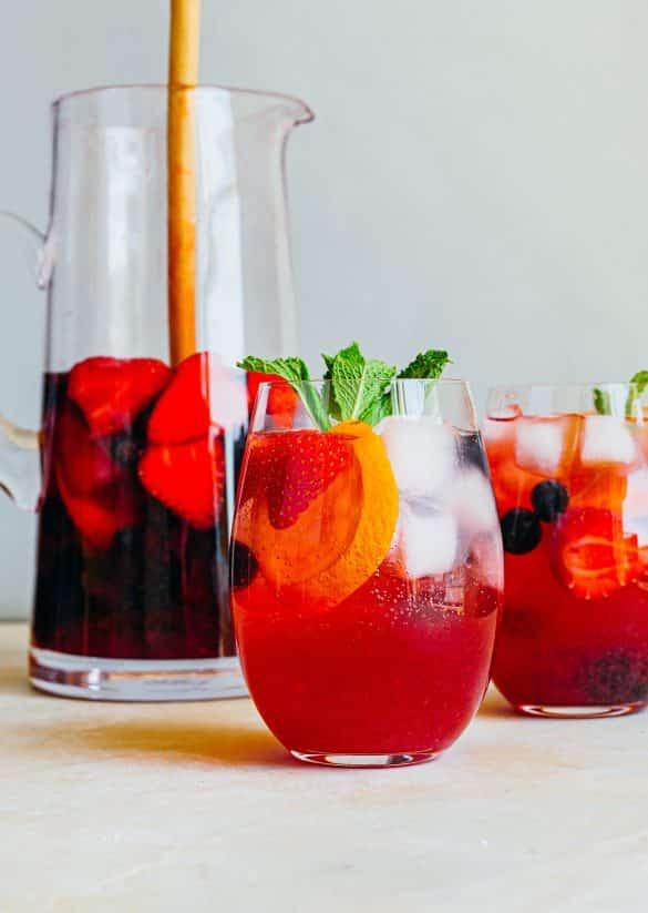 Vegan Rose Mixed Berry Sangria Recipe