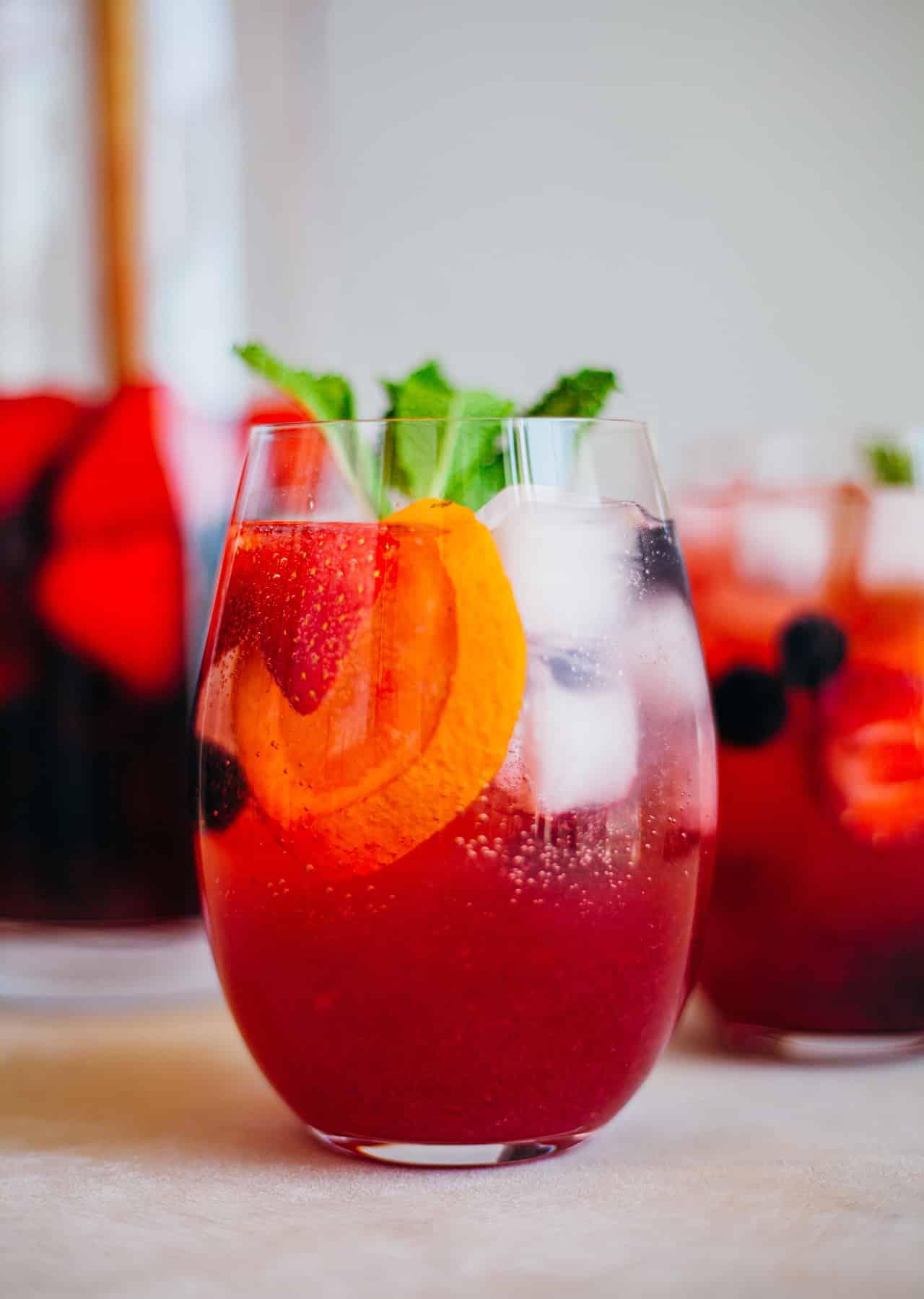 Vegan Rose Mixed Berry Sangria Recipe
