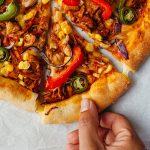 Vegan Stuffed Crust BBQ Jackfruit Pizza Recipe