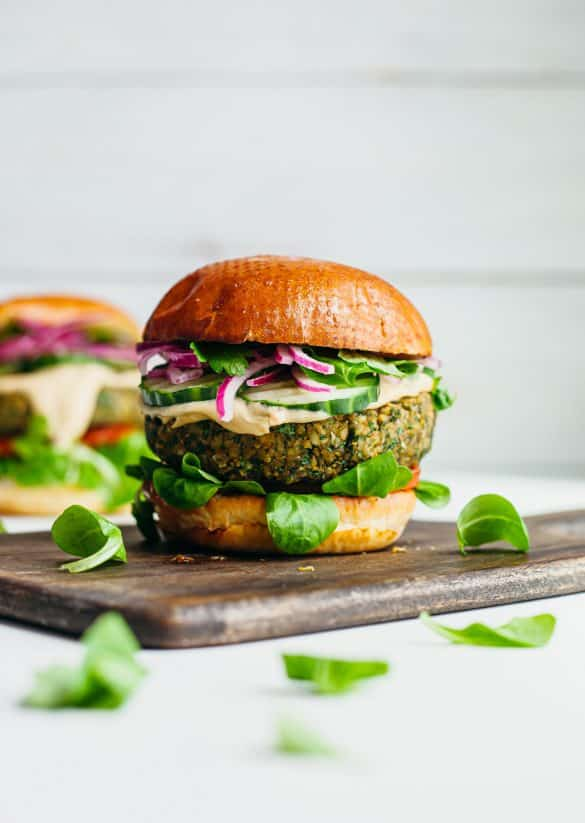 Vegan Falafel Burger Recipe