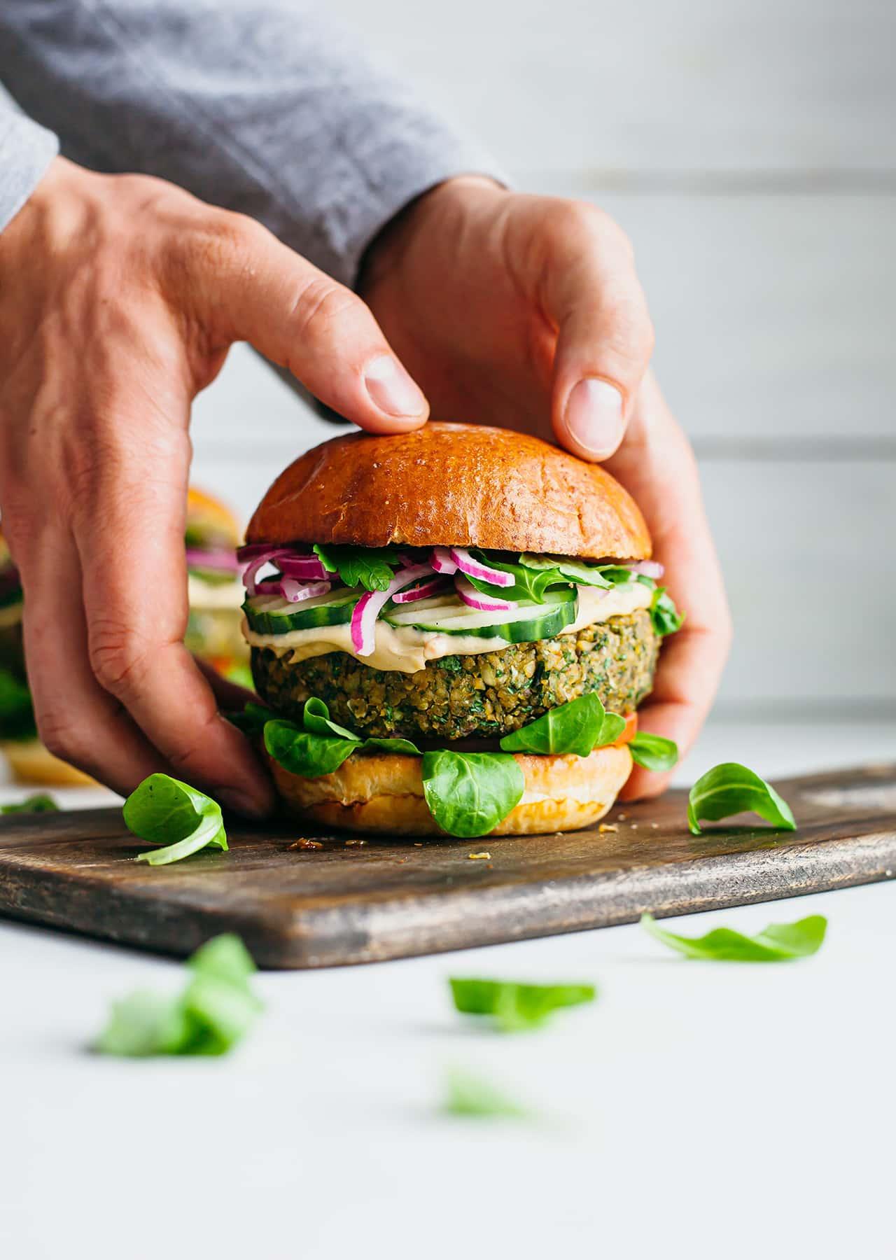 Vegan Falafel Burger Recipe