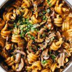 Vegan One-Pot Mushroom Stroganoff Recipe