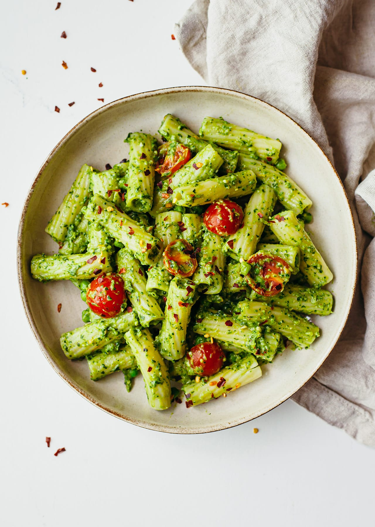 Vegan Avocado Pesto Pasta Recipe