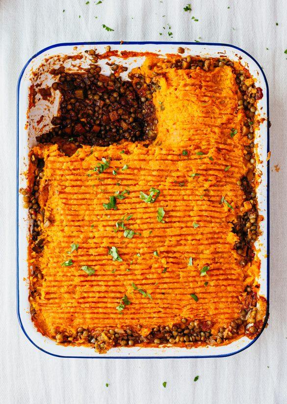 Vegan Curry Pie Lentil Sweet Potato Recipe