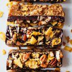 Maple Pecan Chocolate Cornflake Bars Vegan Recipe