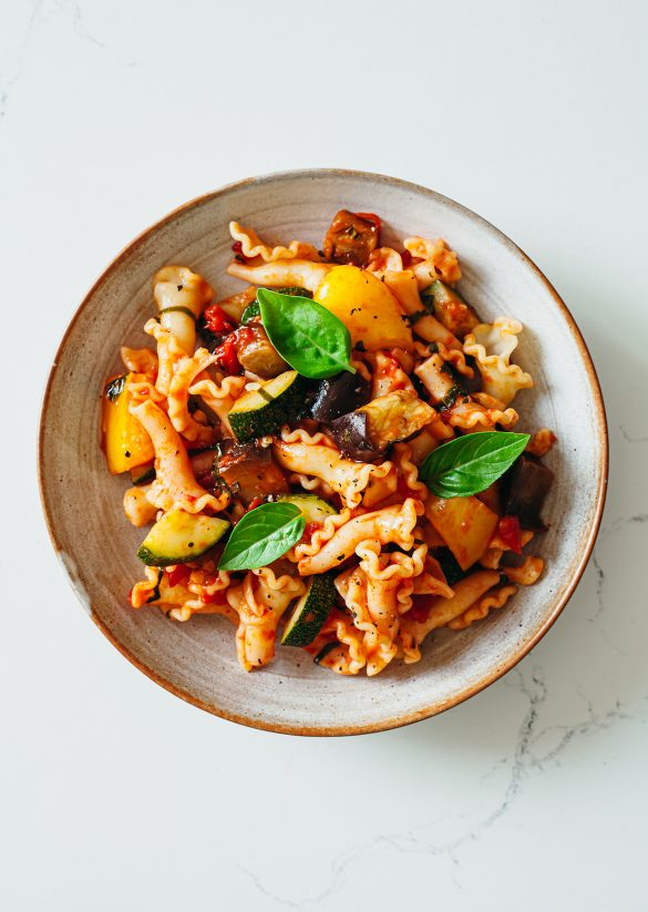 Ratatouille Pasta Vegan Recipe