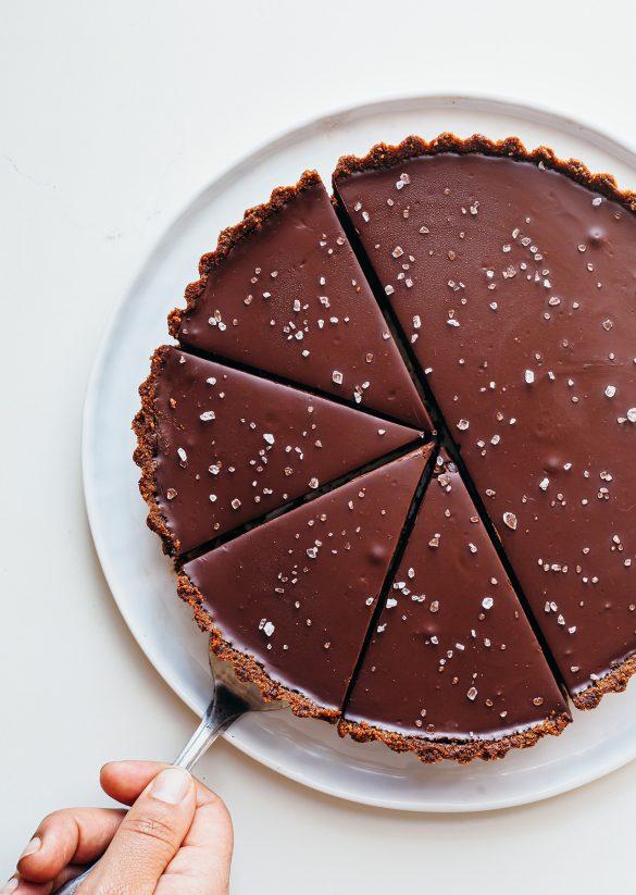 Salted Chocolate Orange Tart