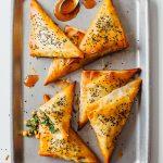 Vegan Chana Saag Samosas Spinach Chickpea Filo Recipe