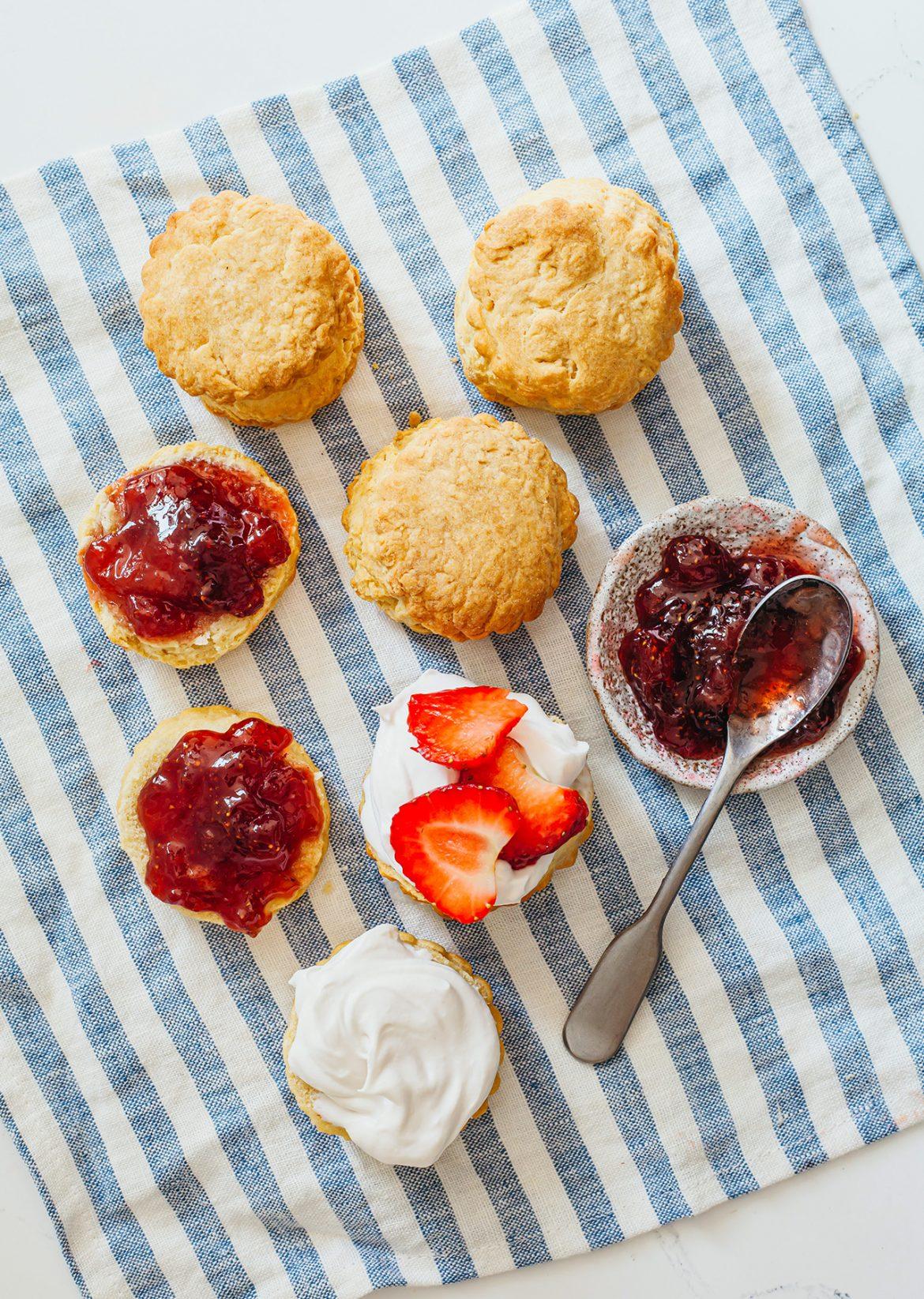 Vegan Scones Homemade Strawberry Balsamic Jam Recipe