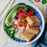 Sesame Crusted Satay Tofu Recipe Bowl