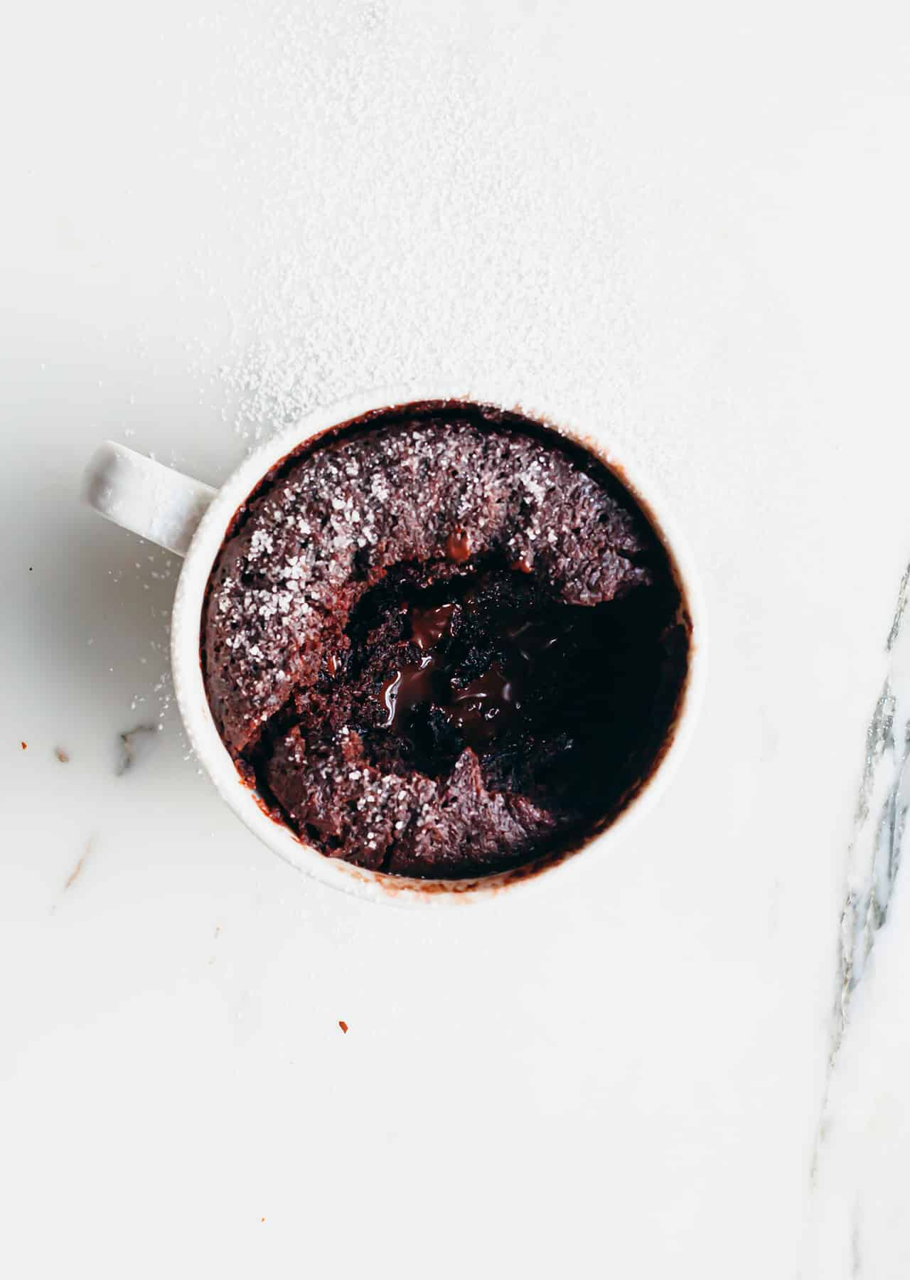 Vegan Gooey Chocolate Mug Cake Recipe