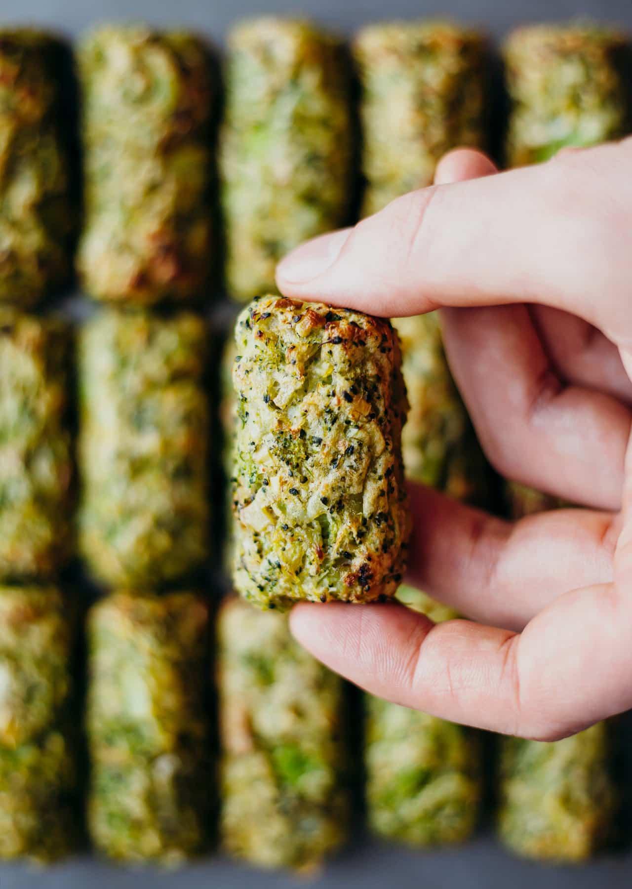 Low Waste Broccoli Tater Tots Vegan Recipe