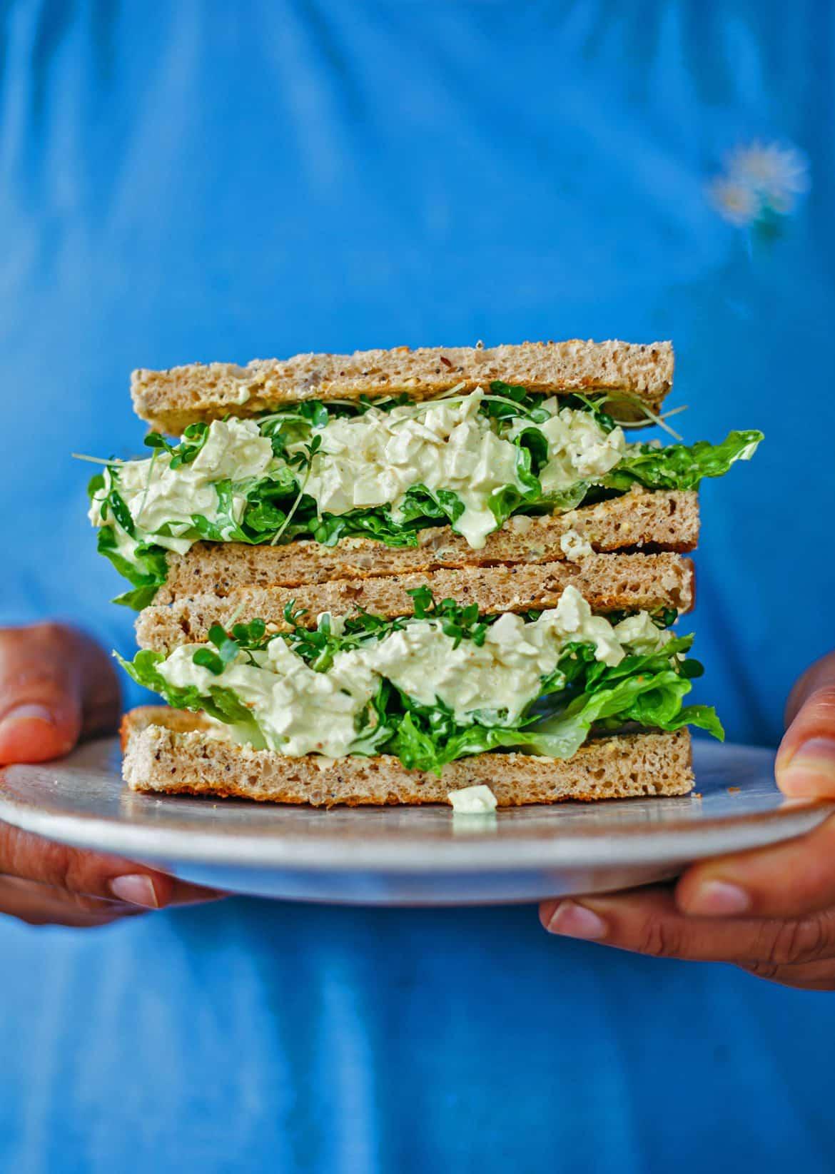 Vegan Egg Mayo Sandwich So Vegan