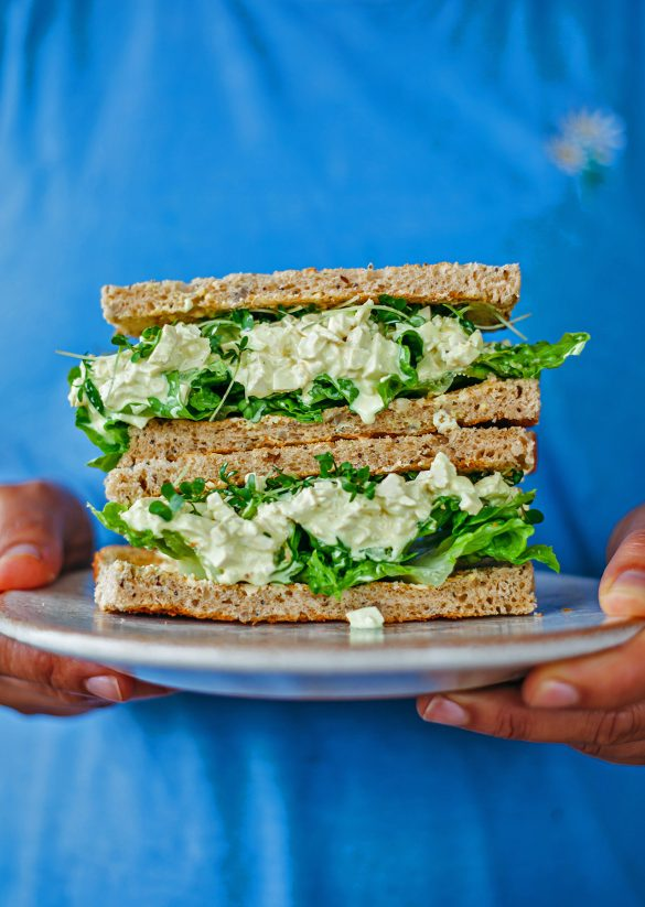 Vegan Egg Salad Mayonnaise Sandwich Recipe